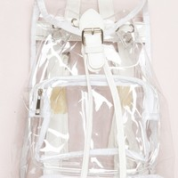 CLEAR BUCKLE BACKPACK