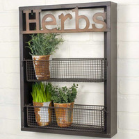 """HERBS"" WALL SHELF - *FREE SHIPPING*"