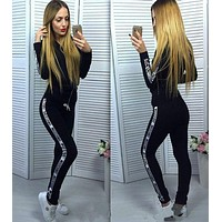 MOSCHINO Fashion Letters print hedging long sleeve pants two piece sweatpants