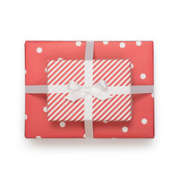 Sugar Paper Cheerful Red Reversible Gift Wrap