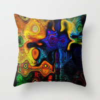 The Owl Throw Pillow by Amanda Moore - Fractal Insanity