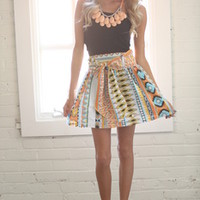 Out of This World Tribal Tie Skirt CLEARANCE - Modern Vintage Boutique