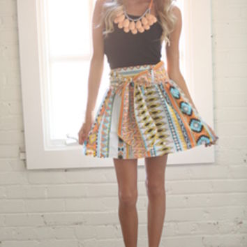Out of This World Tribal Tie Skirt