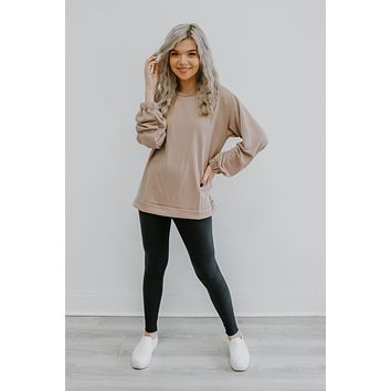 Chill Day Top - Pale Blush