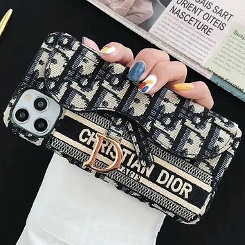 Dior iPhone12Pro max Apple XSMAX Wristband Phone Case 78Plus Protective Case