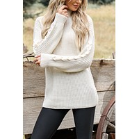 Dakota Knit Sweater (Cream)