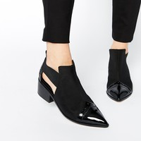 ASOS RAMSFORD Neoprene Point Cut Out Western Boots