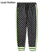 Louis Vuitton LV Fashion New Monogram Print Women Men Sports Leisure Pants