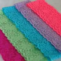 2'' Thick Lace Headbands- Brights- Pick Your Color