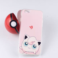 So Cute Pokemon Go Pikachu Protective Case For iPhone 7 5S 6S 6 Plus Case + free gift box