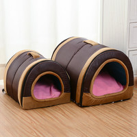 Cute Multi-function Dog House Nest With Mat Foldable Pet Dog Bed