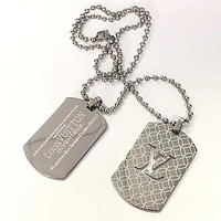 Louis Vuitton LV Men Fashion Necklace Jewelry