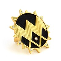 House of Harlow 1960 Jewelry Zig Zag Starburst Ring - Gold