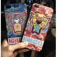 KENZO A tiger phone case shell for iphone 6/6s,iphone 6p/6splus,iphone 7/8,iphone 7p/8plus, iphonex