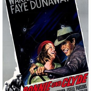 Bonnie and Clyde (German) 27x40 Movie Poster (1967)