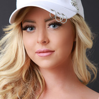 Ring and Chain Accent Baseball Cap