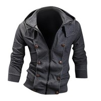 jeansian Men's Fashion Jacket Outerwear Tops Hoodie 9020