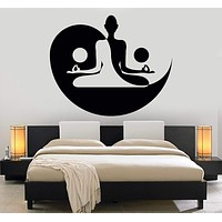 Vinyl Wall Decal Yin Yang Yoga Zen Meditation Bedroom Decor Stickers Mural Unique Gift (120ig)