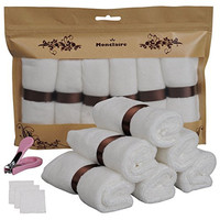 Monclaire® 6pcs 10x10 Inchs 100% Organic Bamboo Baby Bath Washcloths Ultra Soft Pefect For Baby's Sensitive Skin,Natural bathroom Dish Kitchen Towels Crochet Cleanning cloth+Gift(Nail clipper)