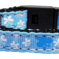 Butterfly Nylon Ribbon Cat Collar (4 Colors Available)