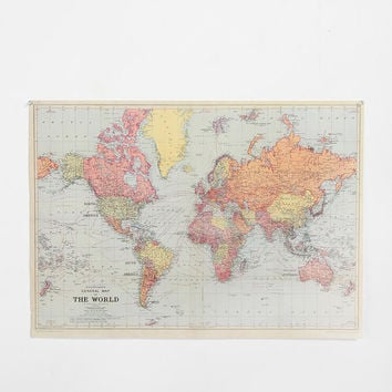 Urban Outfitters - World Map Poster