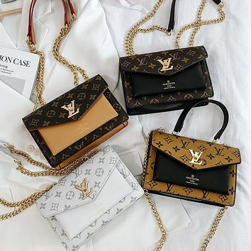 LV Fashionable and versatile printed one-shoulder cross-body bag lady
