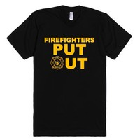 Firefighters Put Out-Unisex Black T-Shirt