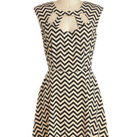 ModCloth Mid-length Sleeveless A-line Zagging Rights Dress