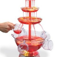 Amazon.com: Clearmax Lighted 3-Tiered Party Fountain with 8 Cups, 1 1/2 Gallon Capacity, Operates with an AC Adapter: Home & Kitchen