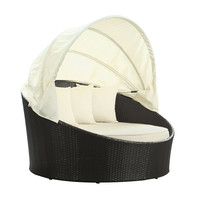 Wicker Canopy Day Bed
