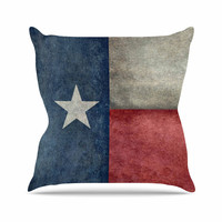 "Bruce Stanfield ""Texas State Flag"" Vintage Digital Throw Pillow"