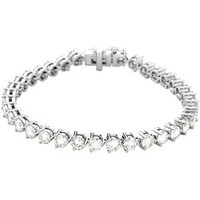 18K White 18K White Diamond Tennis Bracelet