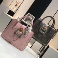 Miumiu Flower Women Shopping Leather Metal Crossbody Handbag Shoulder Bag G-MY-JDCHH