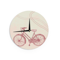 "Sam Posnick ""Bicycle"" Wall Clock"