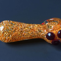 Gold Flaked Glass Pipe