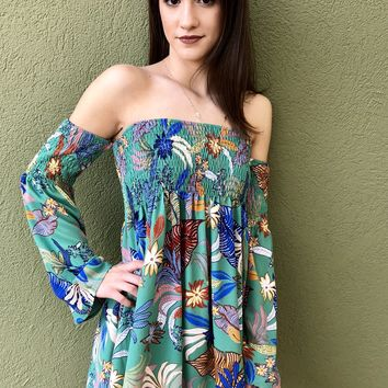 Tropical Dream Dress - Sage