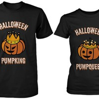 365 Printing Halloween PumpKing PumpQueen Matching Couple Shirts Horror Night
