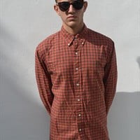 Ralph Lauren Long Sleeve Light Check International Orange from G&LREVIVAL