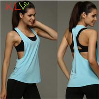 8 Colors Summer Sexy Women's Tank Tops Quick Drying Loose Brethable Fitness Sleeveless Vest Workout Top Exercise T-shirt