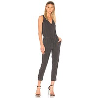 Bella Dahl Cross Back Jumpsuit Smoke