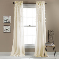 Lush Decor C20586P14-000 Avery Ivory 84 x 54-Inch Window Curtain Panel Pair