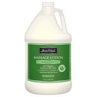 Bon Vital' Organica Massage Lotion Made with Certified Organic Ingredients for an Earth-Friendly & Relaxing Massage, Natural Moisturizer Perfect Lotion for Relaxing Back & Neck Massages, 1 Gal Bottle Ez Store USA