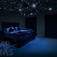 Reusable glow in the dark star decals, 250x realistic  for bedroom ceiling. College dorm room. Ideal for renters. Gift wrapping available