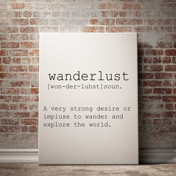 "Printable ""Wanderlust"" definition printable art printable quote inspirational minimalist typography home decor printable download POSTER"
