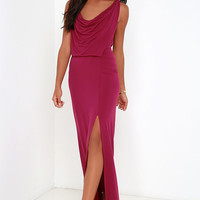 Shooting Starlet Berry Red Maxi Dress