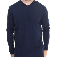 Combed Cotton V - Neck L/S Tee by Basic Essentials