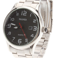 Trendy Metal Stainless Steel Strap Round Shape Wrist Watch