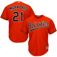Nick Markakis Baltimore Orioles Majestic Official Cool Base Authentic Collection Player Jersey – Orange