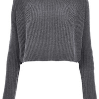 Knitted Rib Detail Crop Jumper - New In This Week - New In - Topshop USA