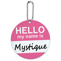 Mystique Hello My Name Is Round ID Card Luggage Tag
